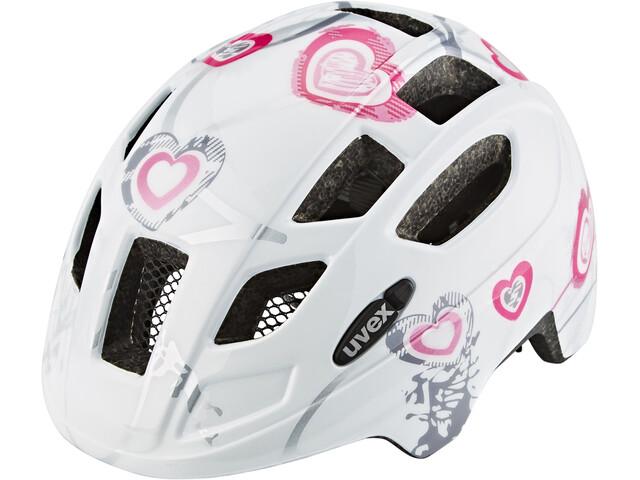 UVEX Finale Junior Helmet Kinder heart white pink